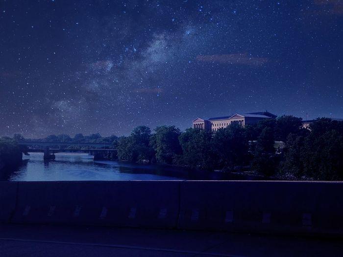 Night at the museum Philadelphia Philadelphiaartmuseum Stars Night River Scullkillriver