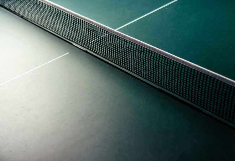 High angle view of net on table