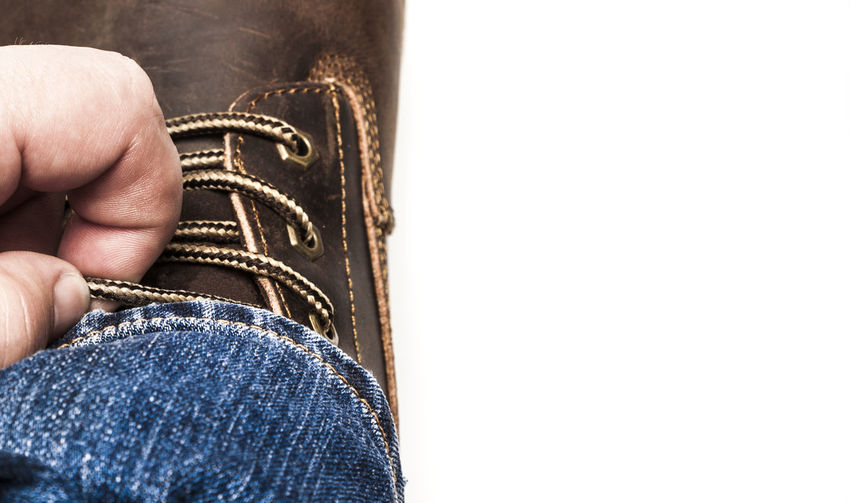 Men's brown boots and blue jeans Men's Brown Boots And Blue Jeans