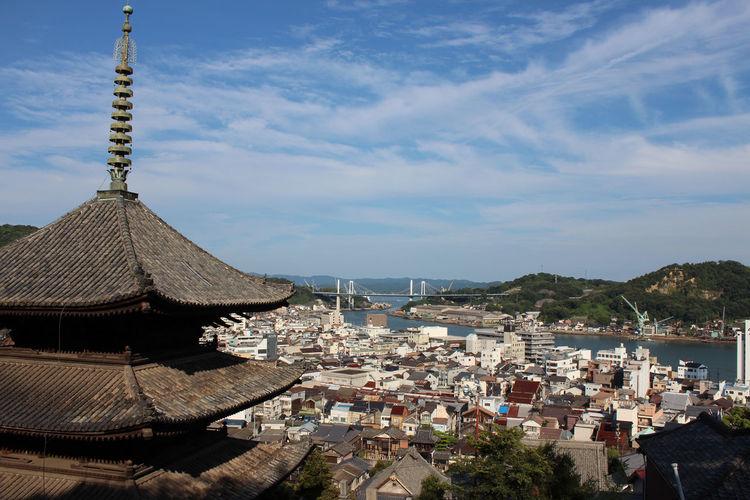 Pagoda Against Cloudy Sky