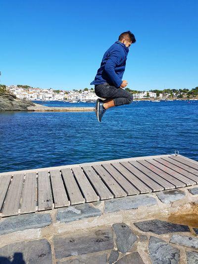 Salto con pasión. Pasión Por Fotografías❤ Lifestyles Jumping Sport Beach Beautiful Nature