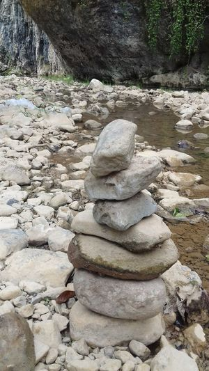 Stone Nature Water River Outdoors Relax No People