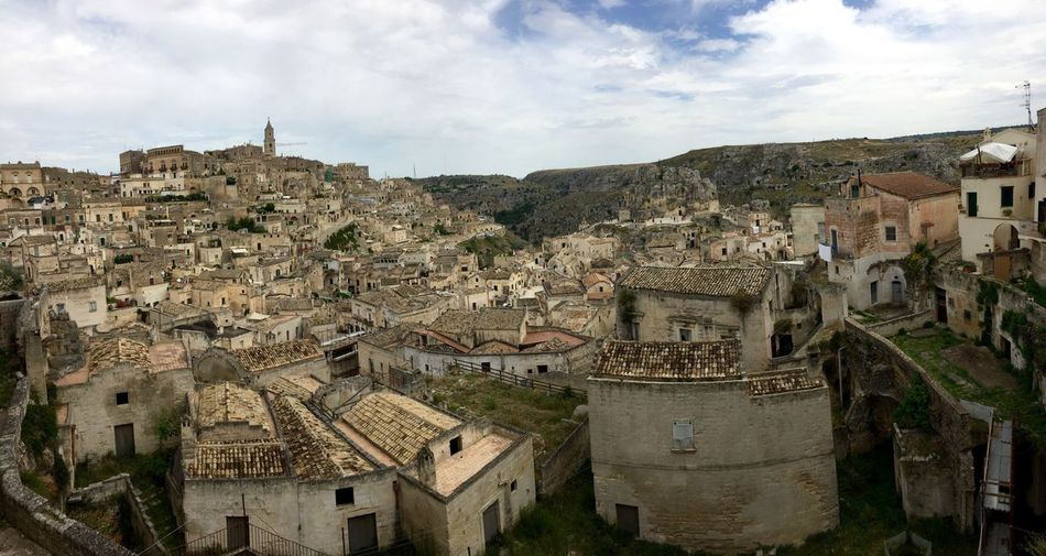 My Year My View Architecture Building Exterior Built Structure Sky Residential Building Travel Destinations House Outdoors Day History No People Cityscape Astronomical Clock Cityscape Architecture_collection Ghost Town Sassidimatera Sky And Houses Ancient Civilization Ancient History Old Ruin Sassi Di Matera City Ruined