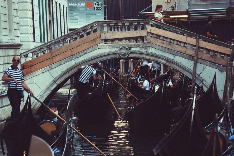 Channel Traffic Jam Gondola Travel Destinations Travel Gondola - Traditional Boat Transportation Gondolier Travel Photography Venezia Italia The Great Outdoors - 2017 EyeEm Awards The Street Photographer - 2017 EyeEm Awards Live For The Story