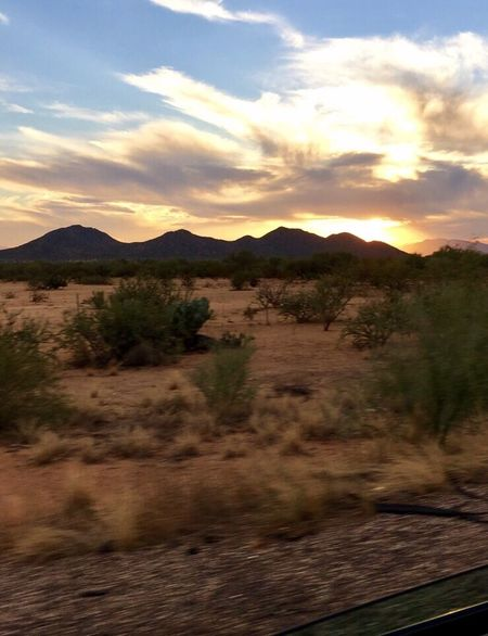 Simple Moment Sunset In The Desert