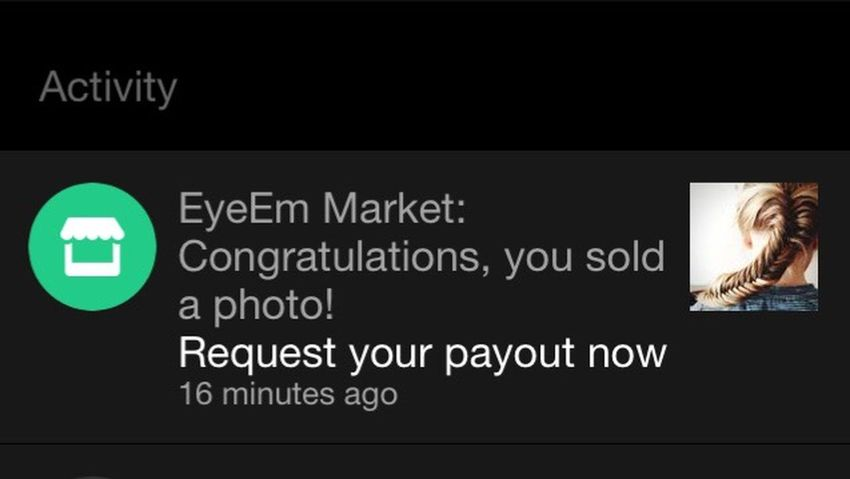 What a nice start to my week! Happy Monday! Sold Photo On Eyeem Market