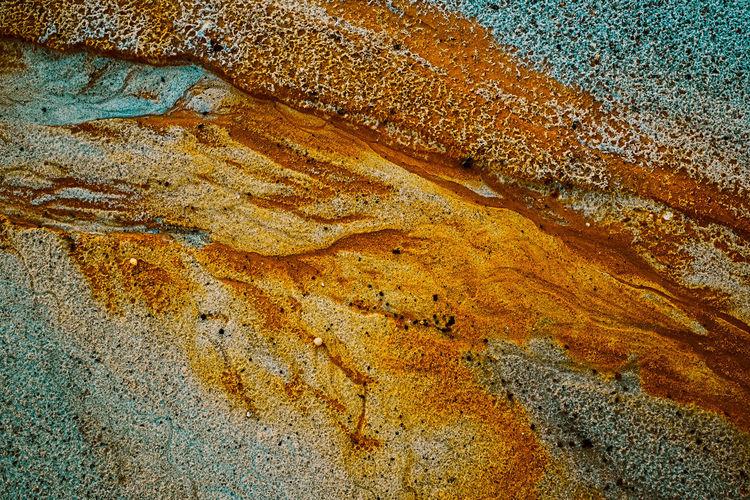 Full frame shot of rock on water