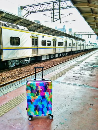 Train - Vehicle Transportation Public Transportation Rail Transportation Railroad Track Railroad Station Platform Outdoors Day No People Taiwan Traval With Friends Traval Travel Done That.