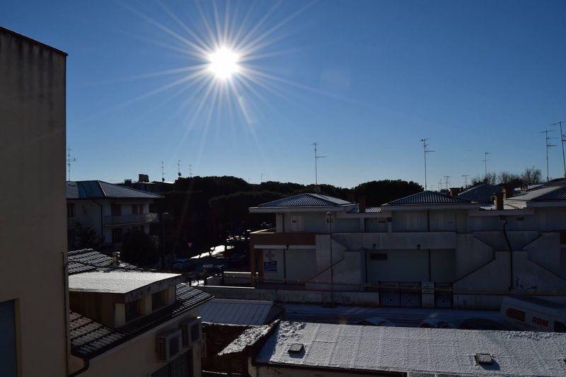 Sun Sunlight Sky City Clear Sky Day Snow Love How My Reflex Shot The Sun ☀️☀️☀️