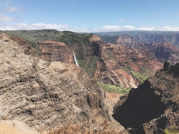 Waimea Canyon Rock Formation Rock - Object Nature Geology Scenics Beauty In Nature Physical Geography Travel Travel Destinations Canyon Remote Tranquil Scene Non-urban Scene Sky Cliff Day No People Outdoors Tourism