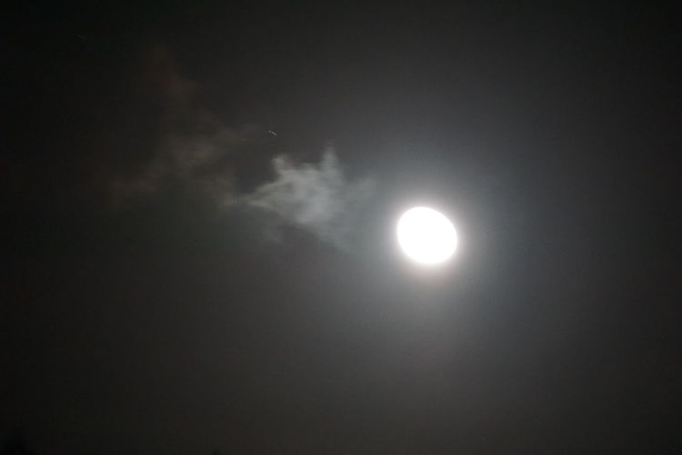 The Moon Is Bright Tonight. Outdoor Photography The Night View
