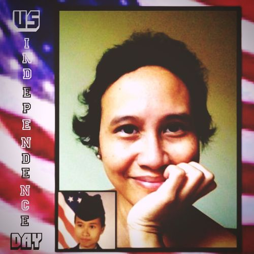 Text_Tuesday Independence Self Portrait Selfie Portrait Warrior_survivor_breast Cancer Looking At Camera Real People US Flag