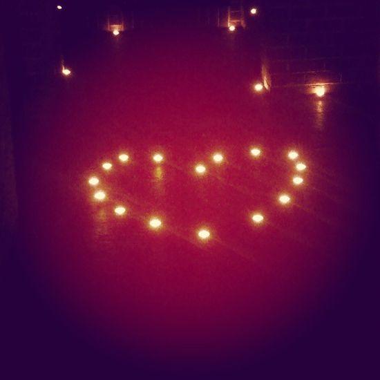 Wedding Love Heart Candles dungeon bar kilronan roscommon ireland