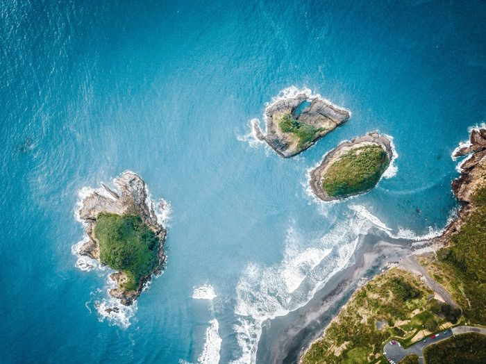 Water Nature High Angle View No People Sea Day Blue Outdoors Beauty In Nature Land Sunlight Coral Aerial View UnderSea Green Color Tranquility Plant Waterfront Underwater Purity