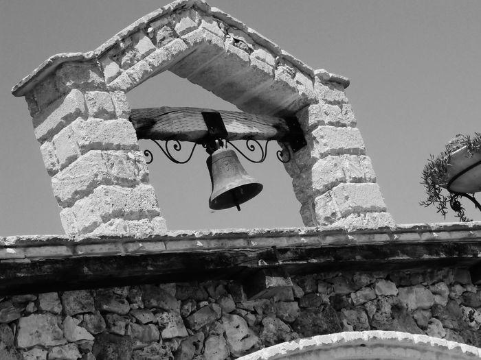 Campana Campanile Bell Italy Puglia Lecce Taurisano Ugento Bianco E Nero Biancoenero Blackandwhite Black And White Foto D'epoca Italia Masseria 1900 Campane Vecchio