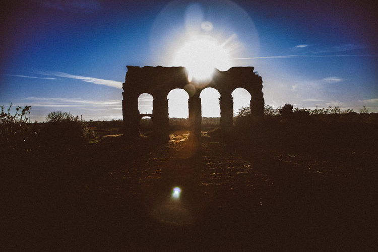 Architecture Blue City Day History Monument Nature No People Outdoors Rome Sky Sun Travel Destinations Vacations