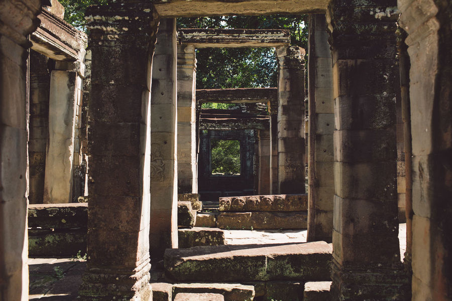 Siem Reap Cambodia Angkor Architecture Built Structure History Abandoned The Past Old Old Ruin Damaged Obsolete Day No People Run-down Weathered Decline Ancient Architectural Column Deterioration Bad Condition Ruined Building Outdoors Ancient Civilization Archaeology
