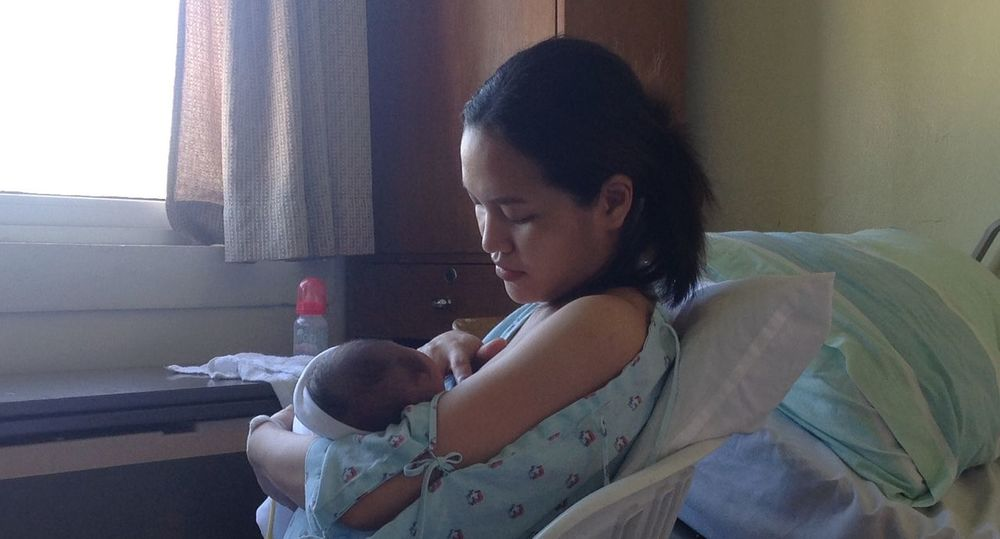 Breastfeeding Baby God's Gift Hospital Love Maternity Mother Mother And Son Motherhood New Born Baby Feeding Time Females Godsgift Innocence Looking Down Mother And Child New Mother Newborn Parent Parenthood Real People True Love