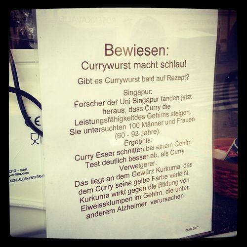 Currywurst macht schlau!