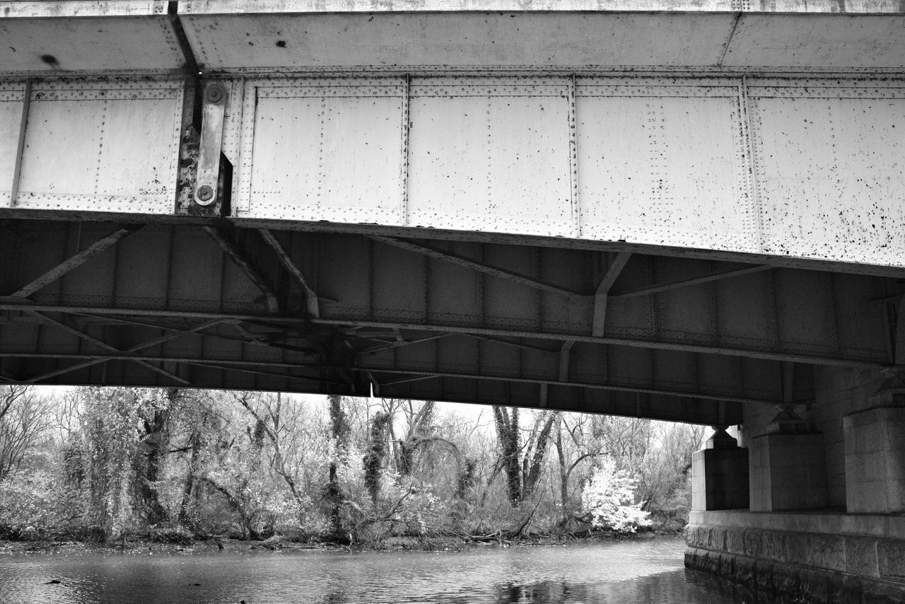 connection, bridge - man made structure, architecture, water, built structure, transportation, day, no people, outdoors, bridge, underneath, nature, sky
