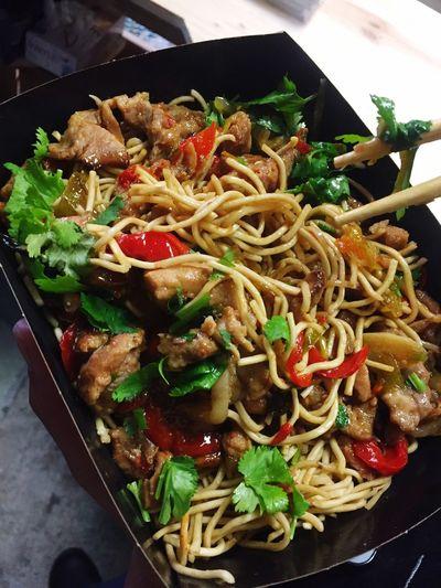 Nouilles Sauté Légumes Shitake Food Porn Thai Miam Boeuf Corsica Gastronomy