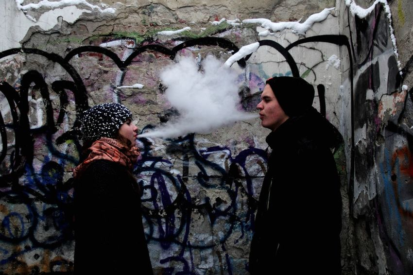 Sometimes it happen😌 Standing Real People Warm Clothing Cold Temperature Smoke - Physical Structure Vape Only Men Winter Leisure Activity Men One Person Adults Only Outdoors People Day Adult