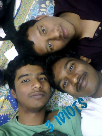 With my close friends at night before going to bed