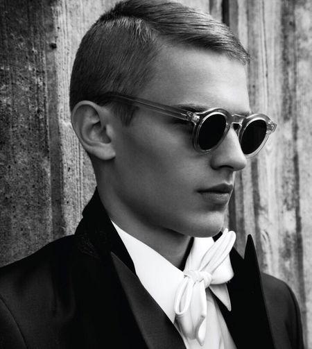 Bo Develius Black & White Sunglasses Model