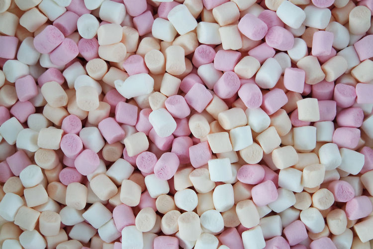 Marshmallow Marshmallows Abundance Backgrounds Candy Close-up Day Directly Above Food Food And Drink Freshness Full Frame Indoors  Indulgence Large Group Of Objects Mini Marshmallows No People Pastel Colors Pink Color Sweet Food Temptation Unhealthy Eating