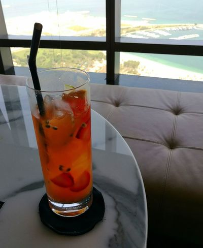 Abu Dhabi Ethiad Towers Relax Relaxing Moments Drink Drinking Glass Food And Drink Cold Temperature Table Cocktail Nonalcoholic Been There.