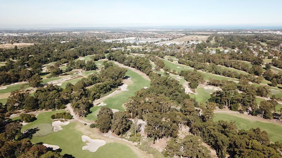 Residence Scenics Horizon Over Land Horizon Green Color Australia Golf Golf Course Sport Drone  Aerial Aerial View Grass Taking Photos Sky Plant Nature Scenics - Nature Beauty In Nature Horizon No People Landscape Tranquil Scene Tranquility Day Tree High Angle View Cityscape Land Growth