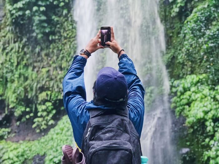 picture perfect Waterfall Photographing Nature Outdoors Real People Men Tree