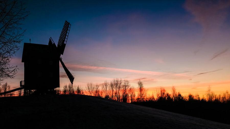 Windmühle im