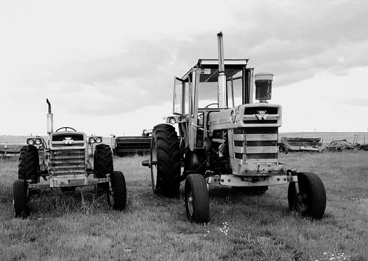 Big and small North Of Lusk Wyoming Ranch Life In The Country A Lot Of Acres Owned By Brother In Law Black And White Close To Nebraska Border Other Farm Implements Near Fence