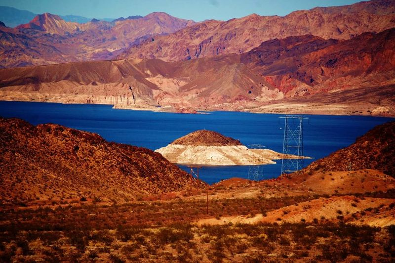 Landscape Mountain Desert Lake Nature Water Outdoors Beauty In Nature No People EyeEmNewHere Lake Mead Nevada From The Side Of The Highway The Secret Spaces The Great Outdoors - 2017 EyeEm Awards The Week On EyeEm Lost In The Landscape Perspectives On Nature EyeEm Ready