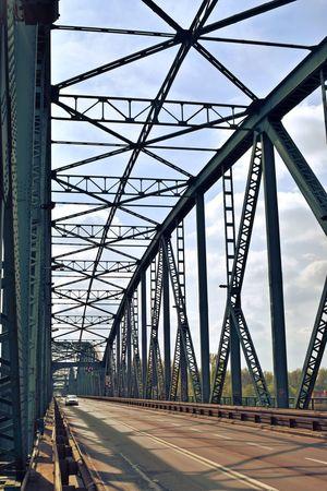 Bridge - Man Made Structure Built Structure Metal Architecture Transportation Day No People Sky Steel City The Architect - 2017 EyeEm Awards Oldarchitecture Toruń Torun, Poland Bridge