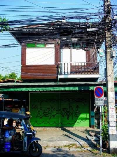Street Photography Streetphotography Everyday Life Everyday Lives Street Life Street Art Streetphoto Thai House Power Lines Travel Thailand Powerlines TukTuk Tuk Tuk Tuk-tuk Green Streetlife Street Photo Street Style Power Line  Chiangmai Chiang Mai Chiang Mai | Thailand Thailand Thai Building Old House