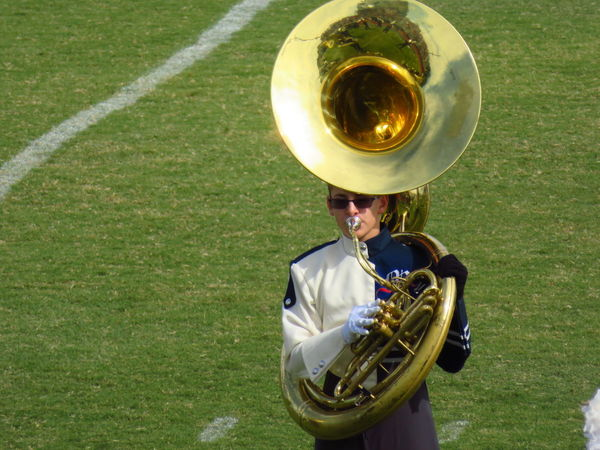 Music Musical Instrument Brass Instrument  One Man Only Musician High School Student Arts Culture And Entertainment Day Teenager One Boy Only Sousaphone Sousaphone Player Tuba Tuba Player