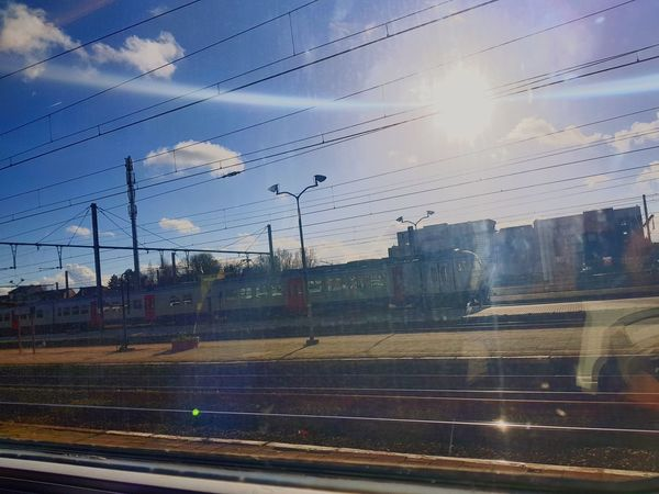 trainstation #station #takenbymymobile #clouds  #Selfmade  #sky Lens Flare Sky Cloud - Sky Sun Outdoors No People Sunlight Day EyeEmNewHere