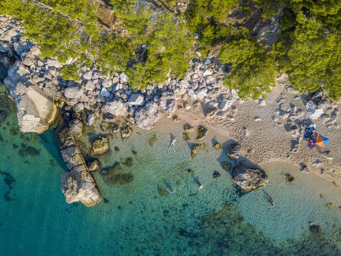 Makarska beach Makarska, Croatia Pisak Water Sea Underwater Land Animal Wildlife Nature Animals In The Wild Animal Sea Life Beach Day High Angle View Marine Outdoors UnderSea Drone