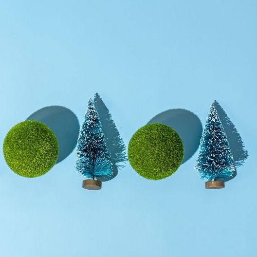 Digital composite image of plants against blue sky