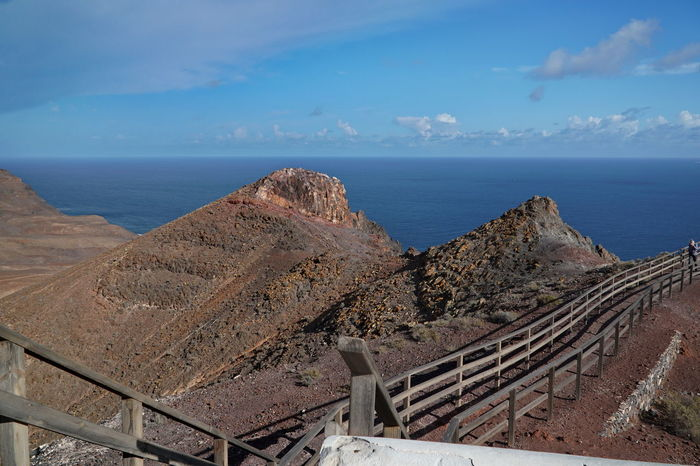 Faro De La Entallada Fuerteventura Beauty In Nature Day High Angle View Horizon Over Water Nature No People Outdoors Railing Scenics Sea Sky Tranquil Scene Tranquility Water