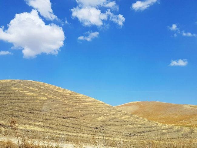 Gold Colored Streetphotography Scenic Tranquil Scene Rural Scene Scenic Landscapes Landscape_Collection Visititaly Italy Nature Countryside Farmland Rural Minimalism Sand Dune Desert Blue Sand Arid Climate Full Frame Pattern Sky Landscape Cloud - Sky Depression - Land Feature Arid Landscape Hill Textured  Slope Terraced Field