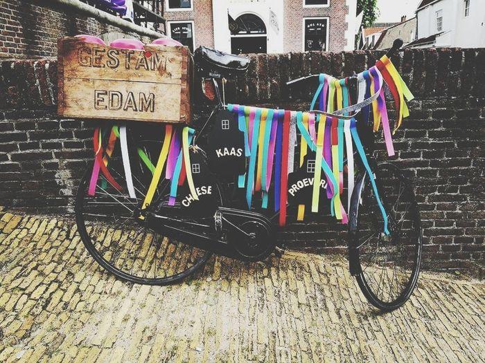 Edam Edam Bicycle Multi Colored No People Holland Mode Of Transport