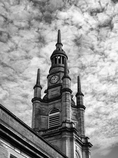 City GLASGOW CITY Scotland Architecture Belief Black And White Photography Building Building Exterior Built Structure Cloud - Sky Day History Low Angle View Monochrome Nature No People Outdoors Place Of Worship Religion Sky Spire  Spirituality Streetphotography Tower Travel Destinations