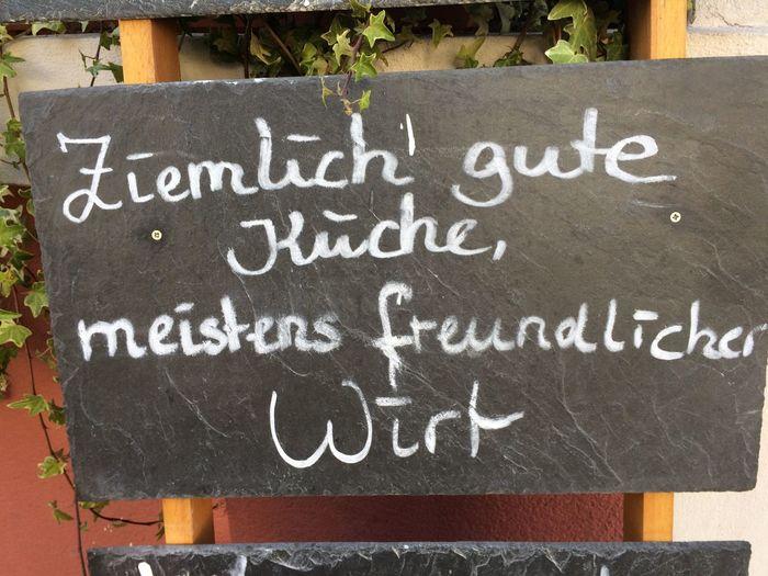 "Ehrlich True Words ""relatively good food and mostly friendly service"" Kind Warning Beergarden  Biergarten"