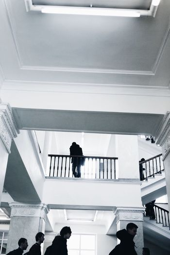 Indoors  Real People Built Structure Architecture Men Low Angle View VSCO Architecture Minimalism University Portrait Livefolk Atmosphere Travel Destinations Travel Modern One Person Steps And Staircases Day Low Section People