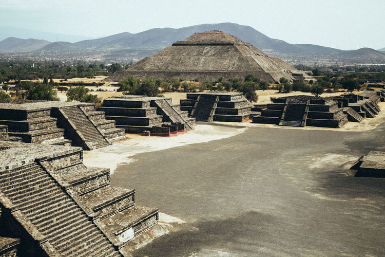 Ancient Ancient Civilization Archaeology Architecture Building Exterior Built Structure Day Environment High Angle View History Mountain Mountain Range Nature No People Outdoors Pyramid Sky Sunlight The Past Tourism Travel Travel Destinations This Is Latin America