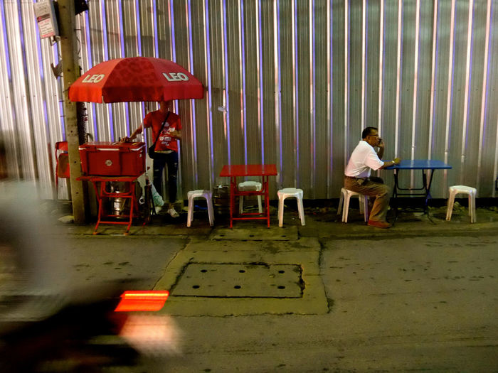 Bangkok Thailnad Chair Day Full Length Men One Person Outdoors People Real People Sitting