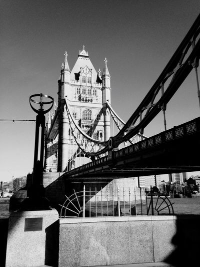London Lifestyle Architecture Built Structure Travel Destinations Bridge - Man Made Structure Travel Connection Tourism Low Angle View Building Exterior Outdoors Day City Transportation Sky No People Clear Sky